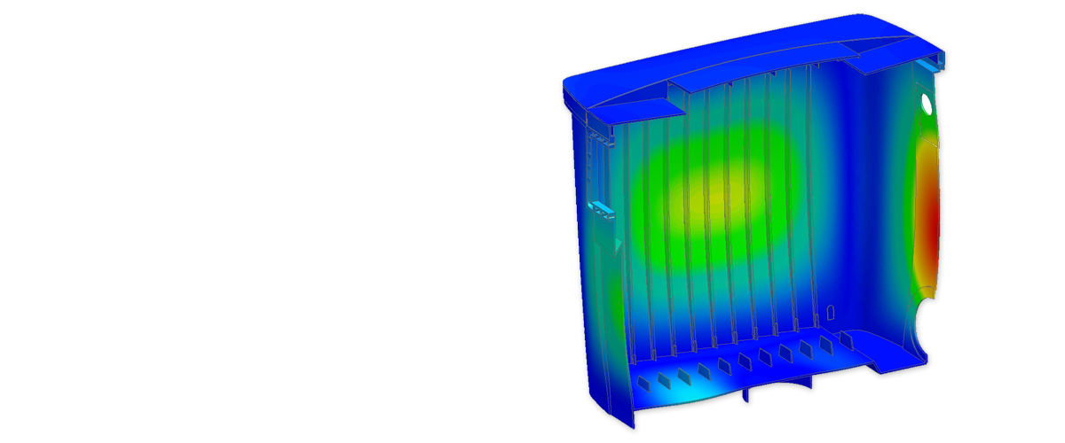 Deformation of a plastic box due to a hydrostatic pressure load